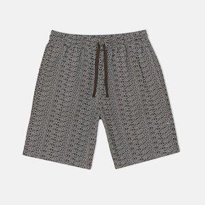 Carhartt WIP all over logo Typo drawstring shorts